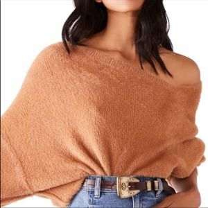 Free People Star Sign Pullover in Glistening Sands